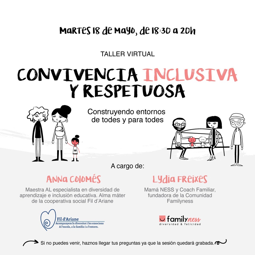 Taller sobre inclusión educativa para familias interesadas